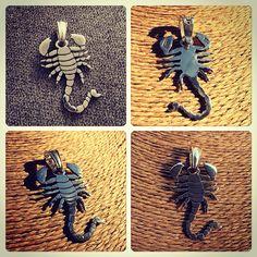 Colante de Plata diseño Escorpión #hechura #hechoamano / Silver Necklace Scorpion Design #hechura #handmade