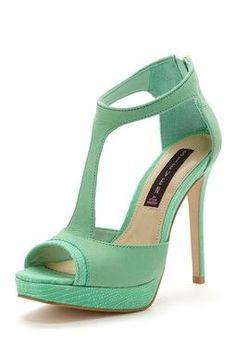Mint heels.