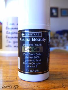 Radha Beauty Eye Gel Eye Gel, Stem Cells, Beauty Routines, Natural Oils, Skin Care, Pure Products, Eyes, Bottle