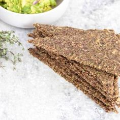 Raw Rosemary and Thyme Flax Bread - Ascension Kitchen