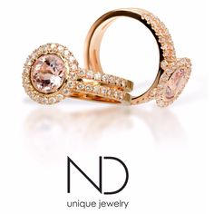 Morganite diamond rosé gold ring wedding ring engagement ring  More info Nijs.dimitri@gmail.com