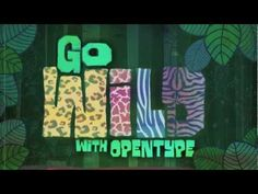 """Veer Presents: """"Go Wild With OpenType""""   Font in use: Manicuore"""