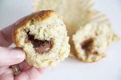 Bananmuffins med nutellagömma | Bakverk och Fikastunder