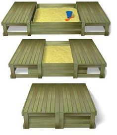 sliding lid sandpit..perfect for a backyard