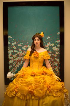 My Belle ballgown (Disney's Beauty and the Beast) costume from Dragoncon 2013