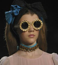 customised sunglasses from General Eyewear's historical collection for Victor & Rolf Spring 2012 Womenswear catwalk show in Paris