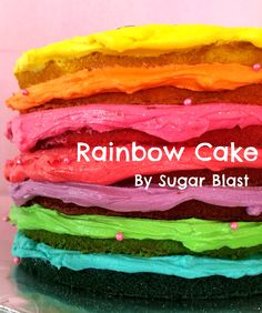 Vanilla Rainbow Cake with Cream Cheese