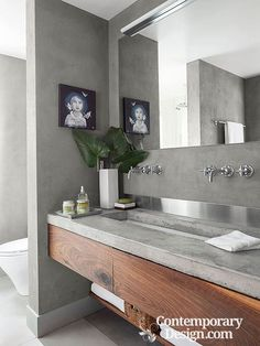 Bathroom Countertop Ideas. Handsome counter tops - no matter whether produced from marble, limestone, or cement -- produce high-functioning bathing rooms that shed over with design.