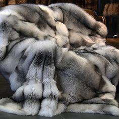 shadow fox fur blanket