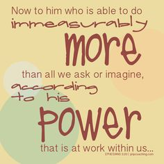Immeasurably more...