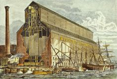New York: Grain Elevator Photograph