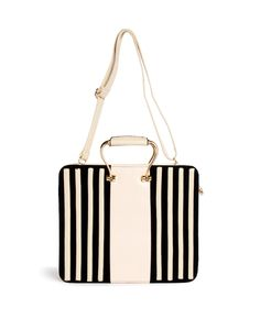 Striped Structured Hand Bag