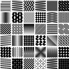 July 2012. A selection of patterns created using geometric fonts produced by Kapitza  #kapitzageometric