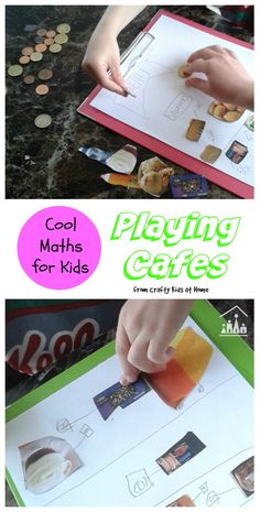 Make maths for kids fun with this pretend play cafe activity. Create your own menu collages using old magazines, place your order and then use real money to pay! Ideal for siblings to play and learn together.