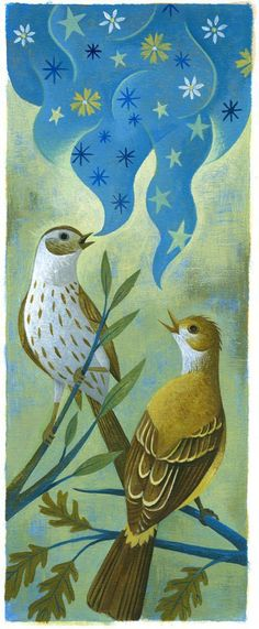 Birds sing of stars! Of course! That's how they navigate during migration.  (Jody Hewgill)