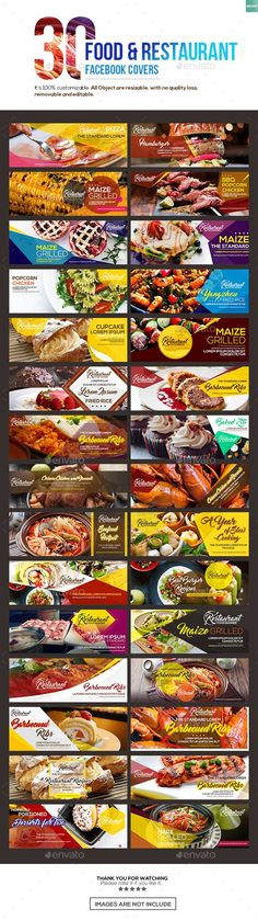 30 Food & Restaurant Facebook Covers  — PSD Template #social media banner • Download ➝ https://graphicriver.net/item/30-food-restaurant-facebook-covers/18416276?ref=pxcr - Love a good success story? Learn how I went from zero to 1 million in sales in 5 months with an e-commerce store.