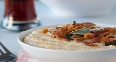 Brown Ale And Cheddar Grits With Pancetta And Crispy Sage
