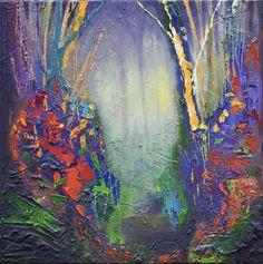 Stephen Lursen Art: Abstract Landscape V - Oil painting by Stephen Lursen