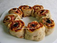 O Cantinho da Marta: Pizza Enrolada com Bacon e Paio