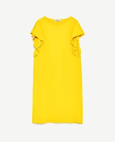 Zara frilly dress in yellow