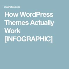 How WordPress Themes Actually Work [INFOGRAPHIC]