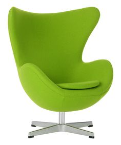 Look what I found on #zulily! Lime Green Yolk Chair by little nest #zulilyfinds