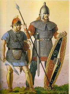 Celt-Iberian warriors in Hannibal's service during the 2nd Punic war. Artwork by Angus McBride