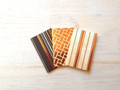 Small Notebooks 3 Tiny Journals Set Orange and by ordinaryartists, $3.00