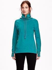 Go-Warm Max Cocoon-Neck Fleece Pullover for Women