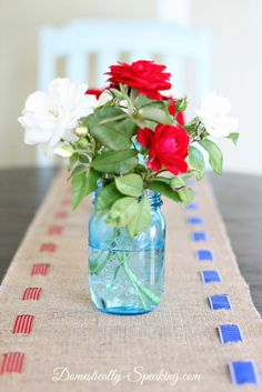 Holiday Home Decor: How to Create a Patriotic Burlap Table Runner!