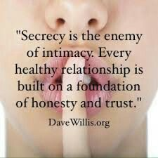 If you have to keep a secret from your partner, chances are you will lie to him/her,  too.