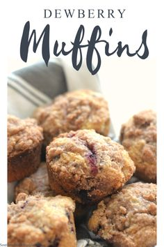These Dewberry Crumble Muffins are a scrumptious way to start the morning. Each bite has a perfectly sweet and tart burst of delicious fresh dewberry, and the sugary crumble on top is absolutely irresistible! #dewberries #dewberrymuffins #blackberrymuffins Brunch Recipes, Breakfast Recipes, Dessert Recipes, Frugal Meals, Easy Meals, My Favorite Food, Favorite Recipes, How To Make Waffles, Good Food