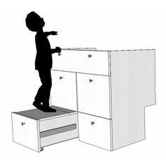 Meuble salle de bain d cal contemporain avec tiroir for Meuble ecureuil marche