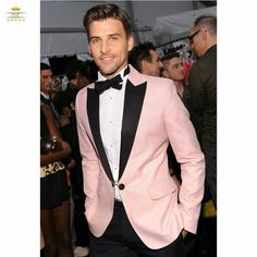 Black Tuxedo with Pink Vest and Tie | Tuxedos | Pinterest | Black ...