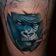 Halasz Matyas's Geometric Animal Tattoos Are Setting The Standard - TattooBlend Geometric Gorilla Tattoo, Tattoo Project, Animal Tattoos, Geometric Animal, Inspiration, Biblical Inspiration, Inspirational, Inhalation