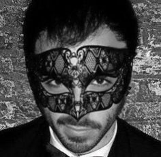 Black Venetian Metal Masquerade Mask men,Laser Cut Masquerade Ball Mask (for Him)