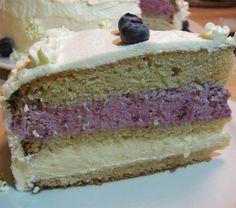 Lagkage med blåbær og hvid chokolade creme | Pernille Elise