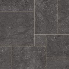Dark Tone Stone Tiles Effect Flooring