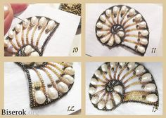 Nautilus / broderie de perles, pendentifs et pendentifs / Biserok.org