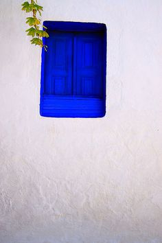 Blue window by Marite2007, via Flickr ~ Pserimos island, Dodecanese, Greece