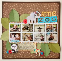 zoo scrapbook page titles | Zoo Scrapbooking Layouts