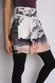 UrbanOutfitters.com > Ecote Watercolor Silk Skirt from urbanoutfitters.com