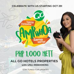 Go Hotels 10th Anniversary Launches Sampwhoa Promo Hotel Guest, Hotel S, Definition Of Work, Tourism Department, One Decade, Raw Photo, Quezon City, Hotel Website, Tourism Industry