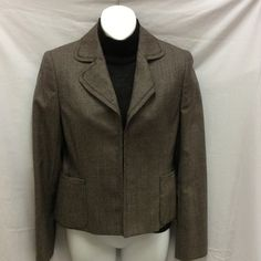 3pc Akris Pants Suit Sz 4/6 This suit consists of a jacket that has a 2 hook front and pants in size 6. There is a short sleeve cashmere brown sweater size 4. Very classy and in excellent condition. Akris Other