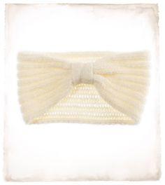 warm cream or brown headband