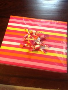 Wrapping paper bow!