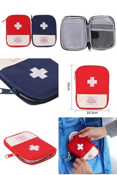 [Visit to Buy] Mini Outdoor Camping Kit Accessories Hiking Survival Travel Emergency First Aid Kit Bag LY2 #Advertisement