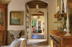 Rustic architecture with fantastic ceiling treatments.