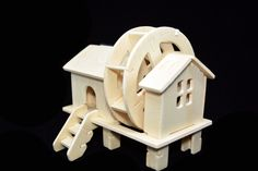 Wooden Watermill Diy Solar Powered 3D Wooden Watermill Spinning Model Woodcraft Educational Toy Gift for Kids Eco Friendly Gift Puzzle Legno di EdoCollection su Etsy