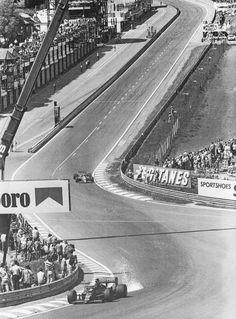 Senna e Johansson 1986 Slot Cars, Race Cars, Racing Events, Speed Racer, Automotive Art, F1 Racing, Vintage Racing, Grand Prix, Race Tracks